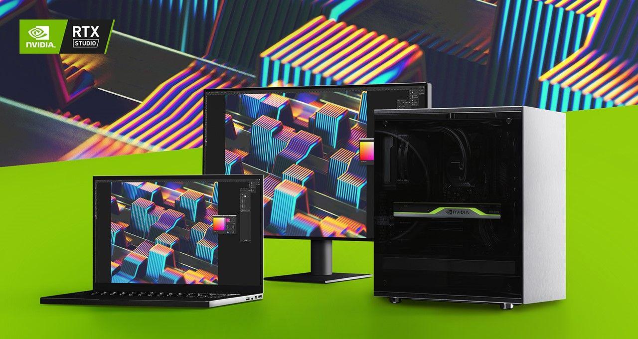 NVIDIA presenta nuevos Sistemas Studio RTX y una oferta para Adobe Creative Cloud