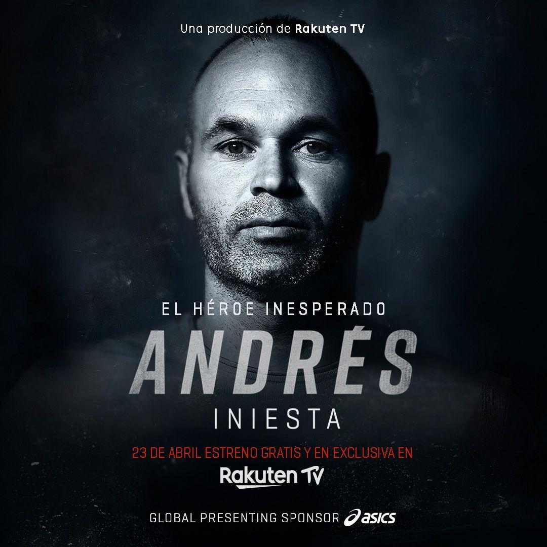 Rakuten TV pone fecha al estreno de Andrés Iniesta – El héroe inesperado